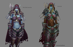 Sylvanas model comparsion by MewMewFrostElf