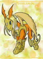 Digimon_Pegasusmon Chibi by EmeraldSora