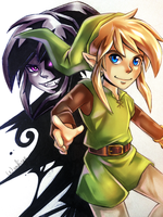 Link VS Shadow Link by NekoLoveLetter