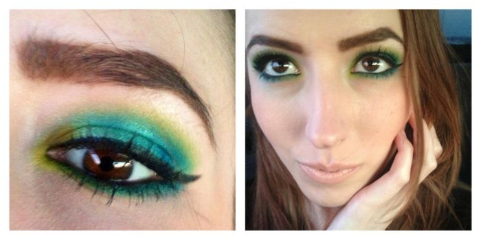 Greens and blues using UD electric palette by hiimgaymolly