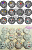 Homestuck Parody Kitty  Buttons by AceroStudios
