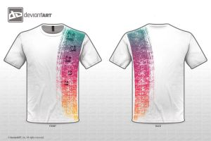 T-Shirt Design - Rainbow by Fiiress