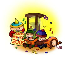 South Park 2009 New Year by SouthParkPhilosopher
