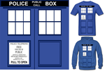 Dr.Who TARDIS T Shirt Hoodie by Enlightenup23