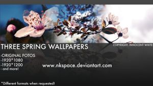 Three spring wallpapers by NKspace