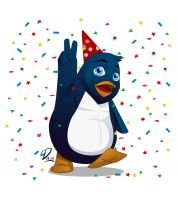 Birthday Pengy by YulayDevlet