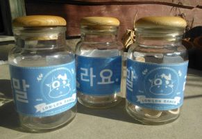 Lon-lon Ranch milk bottles by Lime-apple