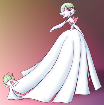 MegaGardevoir and Ralts by JCathryn