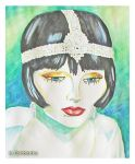 The Flapper (watercolor painting) by eyeqandy