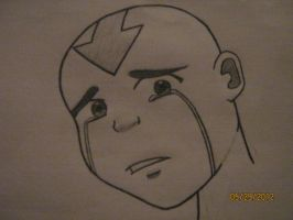Aang Crying by xXDanielPhantomXx