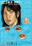 Face Parts Digital Paint Tutorial by christasyd