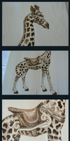 Giraffe Woodburning - Details by MontanaJohnsons