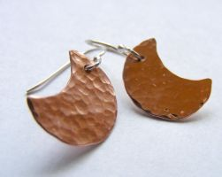 Copper Moon Earrings by MoonLitCreations