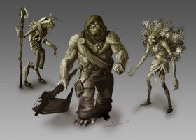Creature NPC concepts by TheRogueSPiDER