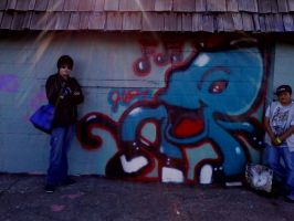 me and octopus by bigdaddyred