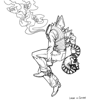 spine lineart by Embryno