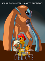 POKEMON AND DEOXYS by ARTic-Weather