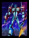 OPTIMUS PRIME colored V by cheetor182