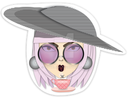 Chic-ky Gaga Sticker by VethBlack