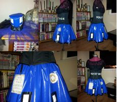 Updated Tardis costume, with flashing light hat :D by cockneynutjob