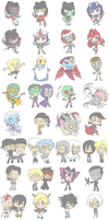 Favorite characters by Rosey-Raven
