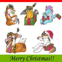 Holiday Gift Chibis by Corvidraline