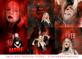RED PASSION ICONS by strongerdiamonds