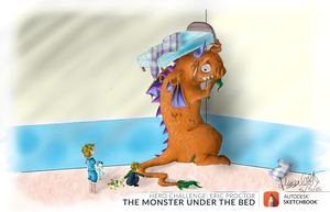 Two Little Monsters by Adasca