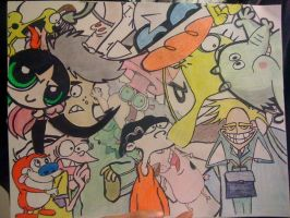 cartoon invasion by buenchuy