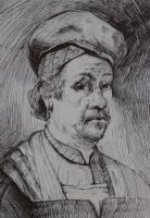 ball pen Rembrandt by NinjaKuma