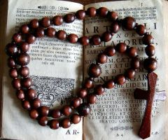 Large Wooden Rosary by aequinox