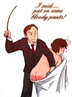 Put on your pants! by Arkham-Insanity