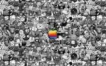 Apple Mac Icons Wallpaper by Advent-Media