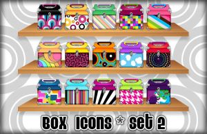 Pattern Box Icons - Set 2 by princessang2644