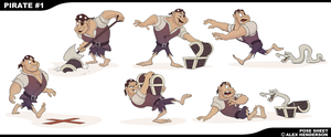 Pirates - In Sequence Pose Sketches by AlexanderHenderson