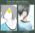 Draw this again meme Sky(OC) by thefoxhugger
