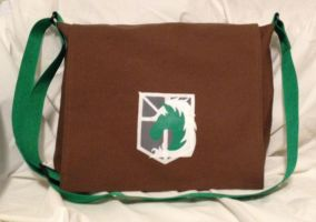 Attack on Titan Military Messenger Bag by Tirrivee