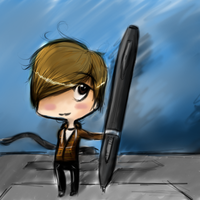 me with tablet in chibi by flexi-joe