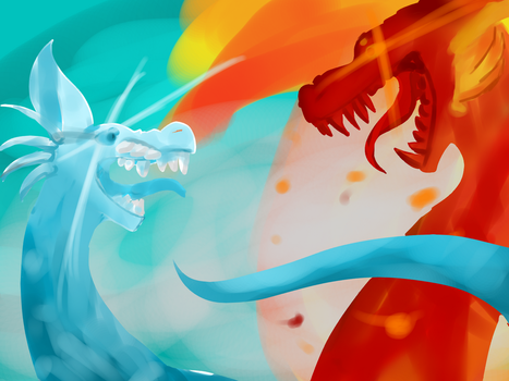 Battle of the elements by sad-snovtz