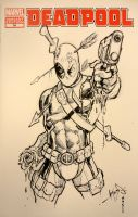 Deadpool Inkwell Sketch Cover by jamesq