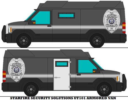 Starfire Security Solutions UT101 Armored Van by mcspyder1