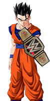 WWE Champion Gohan by DigiRadiance