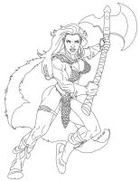 Red Sonja lineart by danitoons