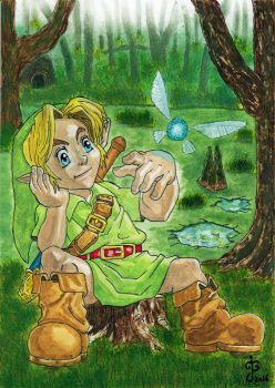 Young Link in the Lost Woods by JGloverArt