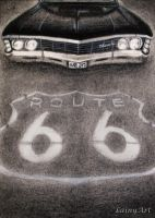 Day 66 - The impala - Route 66 by secrets-of-the-pen