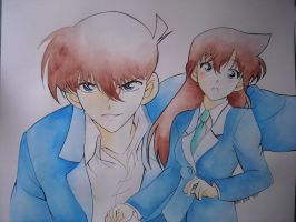 Shinichi and Ran by giulystar-chan