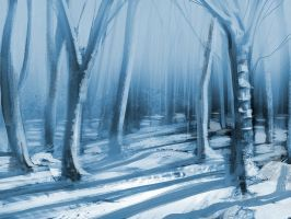 Birch Forest Speed Painting by Hazzard65