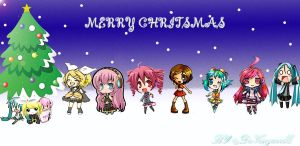 Vocaloid Christmas by VanguardElardo