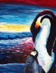 penguin mother and child by penguinluv4ever