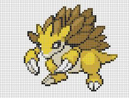 28.sandslash by Electryonemoongoddes